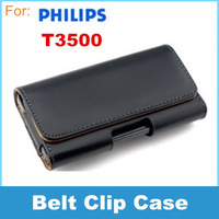 Leather Case Belt Clip Pouch For Philips T3500