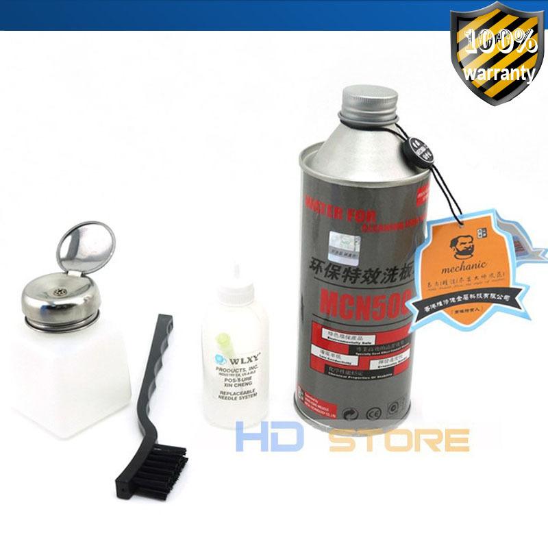 Original Mechanic Motherboard washer water sets Pb-free PCB Cleaning agents Iron canned 500ml HongKong post air free shipping(China (Mainland))