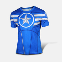 2014 New Arrival Cycling Costume Captain America The First Avenger Cycling T-shirt  Casual Short Sleeves Jersey