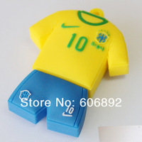 5pcs/lot Football Jersey Hi-Speed Real Memory U Disk USB 2.0 Flash Memory Drive Disk Stick Pen Kaka Retail Packing