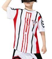 Children's clothing child victory jersey sportswear summer short-sleeve capris cotton set