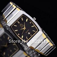 LOBOR Men quartz business watch Complete Calendar tungsten steel watches LB-022M