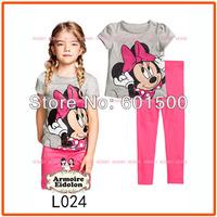 Clothing Set Girls Sleepwear Minnie Cotton Pyjamas Girls Clothing Children's Clothes Baby Sets Underwear Kids Pajama Sets L024