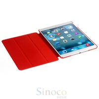 New PU Leather Magnetic Smart Cover Case Skin + Crystal Hard Back Case Shell for iPad mini