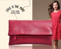 2014 Brand New Celebrity Day Clutches Women Quality Leather Shoulder Bags European Fashion Brief Vintage Designer Handbags 0110