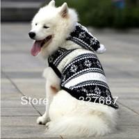 Wholesale Pet Product, Snowflake Winter Large Dog Clothes, Fleece Warn Pet Clothing Coat, Golden Retriever Samoyed Dog Jacket
