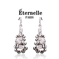 Eternelle fashion drop earring 925 pure silver four leaf clover earrings female silver jewelry earring birthday gift