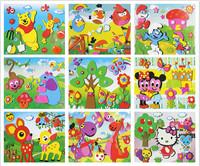 45g stereo sticker paper Child puzzle handmade sticker diy material kit