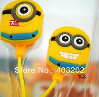Despicable Me earphone earphones the Minion Double Eye Style 3.5mm in ear Headphone Earphone for