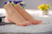 new roman women silicone foot,  whitening skin lover feet model 3500