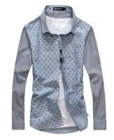 Free shipping man spring 2014  men's clothing casual shirt men