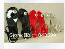 Free shipping 2014 Hot summer RED BLACK Beige ladies Womens Camellia Casual shoes flat Sandals for women Slippers flip-flop(China (Mainland))