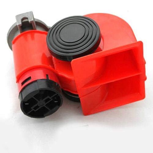 12V Motorcycle Car Snail Compact Dual Tone Electric Pump Siren Loud Air Horn(China (Mainland))