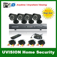 CCTV 8CH Surveillance System Security DVR with 4CH audio in  4PCS Weatherproof CCTV Camera video DVR kit