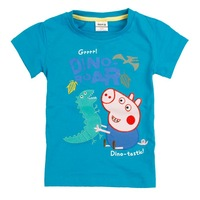 2014 18m/6y Nova Kids wear baby boys' short sleeve T-shirts peppa pig boy's top fit summer 100 cotton short sleeve Tshirts