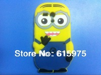 3D Cute Despicable Me 2 Minions Silicone case cover For Motorola Moto G XT1033 cell phone  rubber cases
