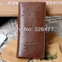 Free shipping men wallet long style PU leather storage wallets hot selling coin purse card holder hand bag male money mobile bag