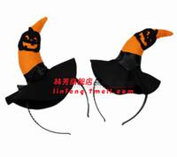 28g halloweenish child headband pumpkin headband hair accessory non-woven pumpkin headband