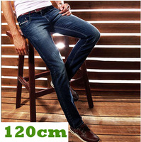 For tall men ! Lengthen edition pants long 120cm lengthen jeans man ultra slim long skinny pants men's clothing