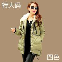 Freeshipping Mm plus size down coat women xxxxl plus size female missfofo long design women's 200 winter
