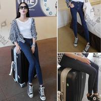 Freeshipping 2014 spring women's tight high waist elastic jeans skinny pants 15k