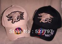Navy Seals cap/Sports baseball capTactical Military outdoor Baseball  free ship High Quality Cotton 100% Tan & Black color 2PCS