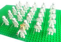 26pcs 312 Skeleton regiment Minifigure fit all brand Building Block doll,Loose Brick accessory WOMA Sluban Decool mini figures