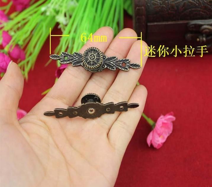 50Pcs Mini long handle 64MM alloy handle drawer pulls jewelry box handle antique handle(China (Mainland))