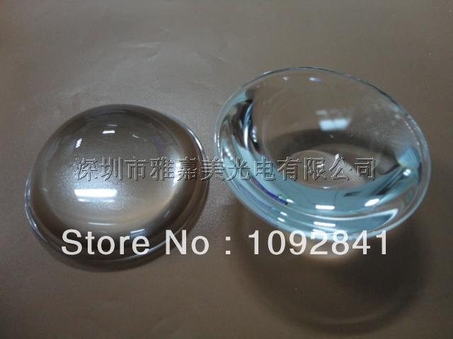 Wholesale - 57mm diameter optical glass, plano-convex lens, LED auto lamp lenses, 10 / batch(China (Mainland))