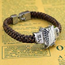 2015 NEW Shingeki no Kyojin  Attack On Titan Giant bracelet hand-rope bracelet student long paragraph allen  [Free Shipping](China (Mainland))
