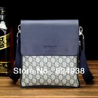 2014 Men's shoulder bag Messenger bag Korean version of the new fashion Plaid bag leisure bag