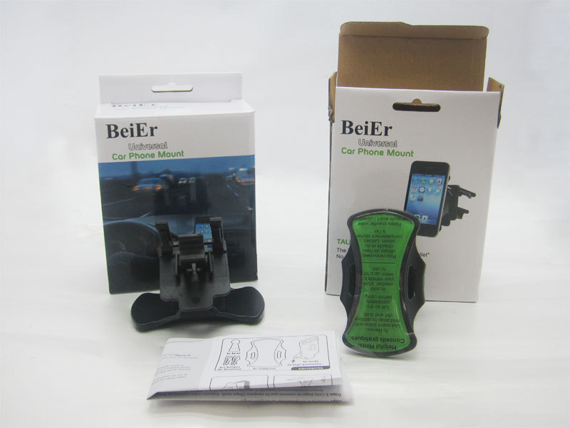 90sets/lot beier universal car phone mount mobile phone holder as seen on TV Grip go car phone mount hand free holder(China (Mainland))