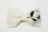Independent Fashion Print Birds Groom Formal Boys Gift Bow Tie Butterfly Men's Tie Bridegroom Wedding Dress Casual Dress Bowtie