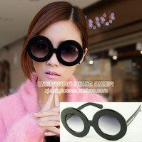 Free shipping Popular design Arrow karen decoration round large sunglasses 14941 11  12pcs/lot