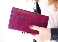 Free Shipping!2014New Arrival European Fasion Genuine leather cowhide ultrathin women long wallet handbag lady purse card holder