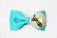 Fashion Suit Shirt Butterfly Men's Tie Independent Blue Banana Print  Pattern Bridegroom Bow Tie Wedding Dress Bowtie Cravat