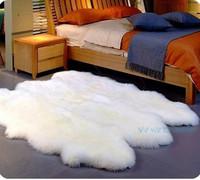 Fashion pure wool carpet sheepskin piaochuang pad wool sofa cushion bed blankets customize