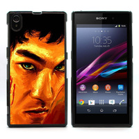 New Aluminum Metal Plate Hard Plastic Shell Cover Bruce Lee Case for Sony Xperia Z1 L39h Retail Free Shipping L39h-512