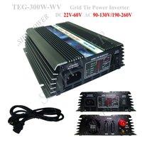 Grid Tie Inverter solar 300W, On Grid Inverter 22V-60VDC to 220V, 230V, 240V AC