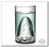 Free shipping 3Piece Shark Attack Mug  Shark Drinking Glass mugs