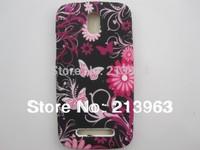 Sample Retail  Butterfly Flower Heart Zebra Star TPU Rubber Soft Cover Case For HTC Desire 500 Desire500 509D