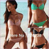 New sexy Women Push Up Beach Bikini Swimsuit Underwire Bra Swimwear