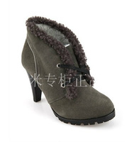 Purchasing agent of special counter killah zipper decoration scrub leather bag thin heels strap boots kl13s25401