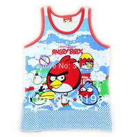 wholesales car blue red summer vest little birds boys Camisoles boys tank sleeveless shirt(3T-10T) 12pcs/lot