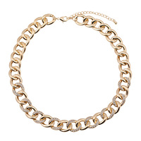 2014 New Vintage All-match Thick Crystal Choker Chunky Shiny Chain Necklace For Women&Men Wholesale S003
