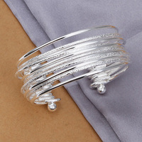 2014 New / Free Shipping / wholesale 925 silver jewelry,925 silver bracelet/bangle/cuff,925 sterling silver bracelet PCB 194