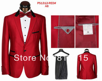 Hot Selling High Quality Men Shining Coat Pant Suits Free Shipping