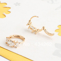 Korea grade hypoallergenic earrings fashion 18k gold plated stud earrings for women 2014 new , cc earring cc