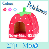 10pcs/lot pet nest cat dog strawberry style dog kennel Mat Cute Adjustable Pet Puppy House Cushion Dog Cat Bed Sleeping Bag Nest