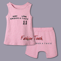 2014 Newest Style Kids Clothing Set Boy Pink Cotton T Shirt And Pants Printed Boys Suit For 5 to 10 Y Girl Children Clothes